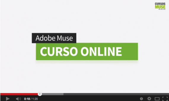 Video promocional Curso online Adobe Muse